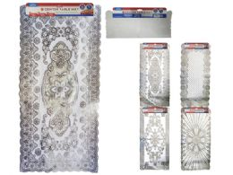 72 Bulk Pvc Center Table Mat With Silver Printing