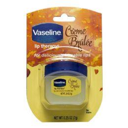 48 Bulk Travel Size Vaseline Lip Therapy Vaseline Lip Therapy Creme Brulee 0.25 oz. Jar