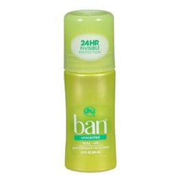 48 Bulk Ban Unscented RollOn Deodorant 1.5 oz.