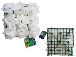 48 Bulk Flower Mat 9 Head Flower White