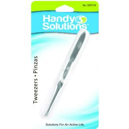 96 Bulk Handy Solutions Slant Tip Tweezers Card of 1