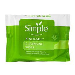 36 Bulk Simple Sensitive Skin Cleansing Facial Wipes Pack Of 7