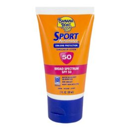 24 Bulk Travel Size Banana Boat Sport Sunscreen Lotion SPF 50 2 oz.