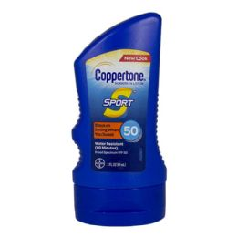 24 Bulk Travel Size Coppertone Sport Sunscreen Lotion SPF 50 3 oz.