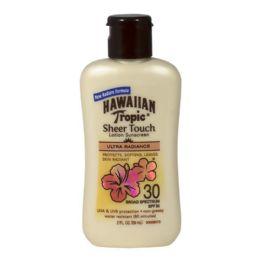 24 Bulk Travel Size Hawaiian Tropic Sheer Touch Sunscreen Lotion SPF 30 2 oz.