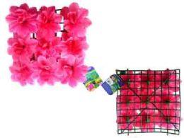 """48 Bulk Flower Mat 9 Head 10""""x10"""" Pink"""