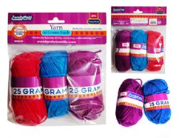 96 Bulk 3 Pc Yarn In Assorted Colors