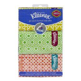 72 Bulk Kleenex Pocket Pack Tissues Hangable Travel Size 3 Packs Of 10