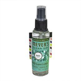 24 Bulk Mrs. Meyer's Basil Hand Sanitizer Spray 2 oz.