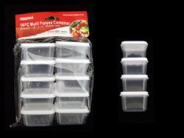 48 Bulk 10pc Square Multipurpose Containers