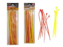 96 Bulk 40pc Assorted Color Cable Ties