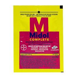 90 Bulk Travel Size Midol Menstrual Complete Pack Of 2