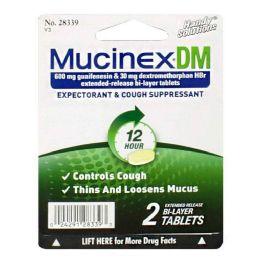 36 Bulk Cough Suppressant Mucinex Dm Cough Suppressant Carded Pack Of 2