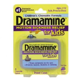 12 Bulk Dramamine - Dramamine For Kids Chewable Tablets Card Of 8