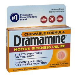 18 Bulk Dramamine Motion Sickness Relief Chewables Travel Size 8 Count