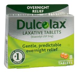 48 Bulk Laxative Tablets - Dulcolax Laxative Tablets Box of 8