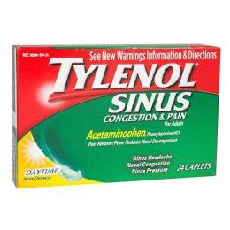 12 Bulk Tylenol Sinus Relief - Tylenol Sinus Congestion Pain Box Of 24