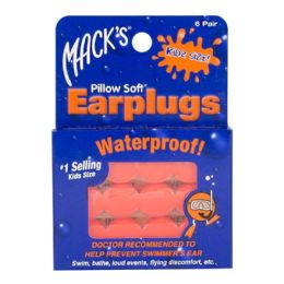 24 Bulk Earplugs - Mack's Soft Moldable Silicone Putty Earplugs Kids Size 6 Pairs