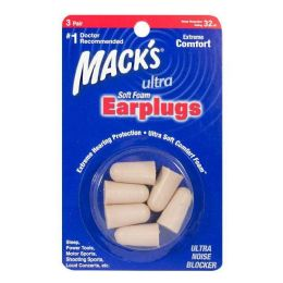 24 Bulk Macks Soft Foam Earplugs 3 Pairs