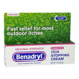 24 Bulk Anti Itch Cream - Benadryl Itch Stopping Cream 1 oz.