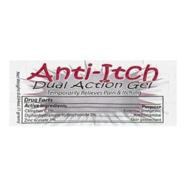 250 Bulk Anti Itch Gel - Coretex Anti Itch Dual Action Gel Packet 1g Foil Packet