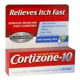 24 Bulk Travel Size Cortizone Cream 0.5 oz