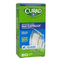 48 Bulk Waterproof Bandages - Curad Assorted Waterproof Bandages Box Of 20