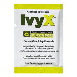 150 Bulk Towelettes - Ivyx Poison Oak Ivy Cleanser Towelettes 7.8 gm.