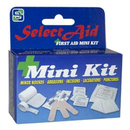 96 Bulk Travel Size First Aid - Select First Aid Kit 12 Piece