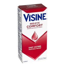 24 Bulk Visine Red Eye Comfort Drops 0.5 oz.