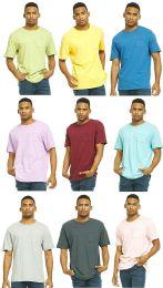 9 Bulk Yacht & Smith Mens Assorted Color Slub T Shirt With Pocket - Size M