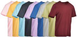 9 Bulk Yacht & Smith Mens Assorted Color Slub T Shirt With Pocket - Size S