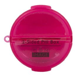 72 Bulk Pill Box - Mon Image Round 2 Sided Pill Box