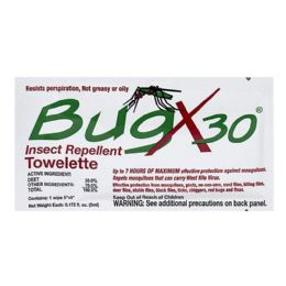 100 Bulk Travel Size Insect Repellent - Bugx 30 Deet Insect Repellent Towelette
