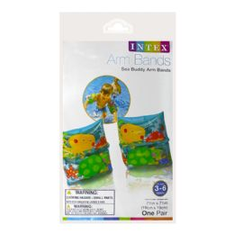 72 Bulk Arm Bands - Intex Arm Bands Sea Buddy Ages 3 To 6