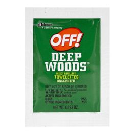 96 Bulk Travel Size Insect Repellent Towelettes - Off Deep Woods Insect Repellent Towelettes