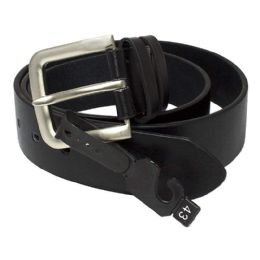 8 Bulk Leather Belts - Black Leather Belts Assorted Sizes