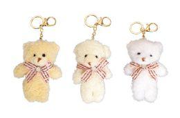 48 Bulk Plush Teddy Bear Keychain