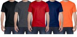 36 Bulk Mens Plus Size Cotton Short Sleeve T Shirts Assorted Colors Size 7XL