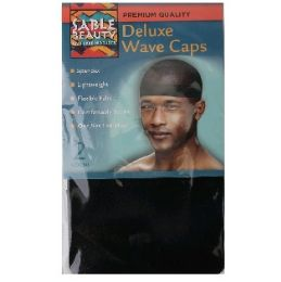 96 Bulk 2pk Wave Cap [Black]