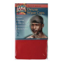 96 Bulk 2pk Wave Cap [Red]