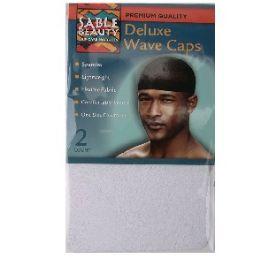 96 Bulk 2pk Wave Cap [White]