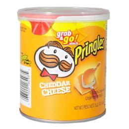 96 Bulk Pringles - Pringles Cheddar Cheese Potato Chips 1.41 oz.