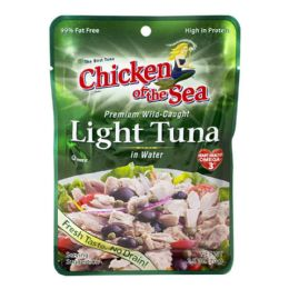 48 Bulk Light Tuna - Chicken Of The Sea Light Tuna 2.5 oz. Pouch