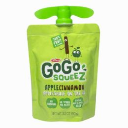 90 Bulk Apple Cinnamon Sauce - Gogo Squeez Apple Cinnamon Sauce On The Go 3.2 oz.