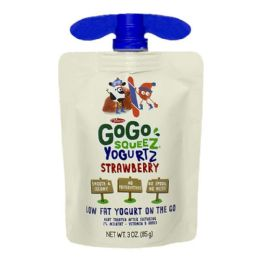 90 Bulk Yogurtz On The Go - Gogo Squeez Yogurtz Strawberry On The Go 3. oz.