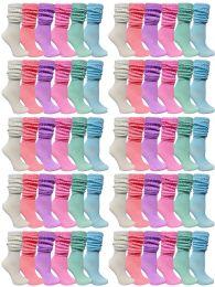 60 Bulk 60 Pack Yacht & Smith Womens Cotton Slouch Socks, Womans Knee High Boot Socks (Pastel)