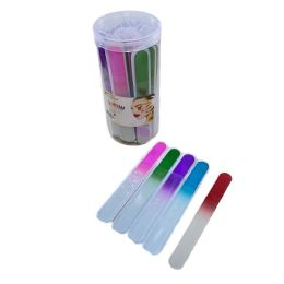 120 Bulk Glass Nail Files In Tub Assorted Color