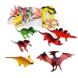 36 Bulk 6pc Toy Dinosaur In Bag