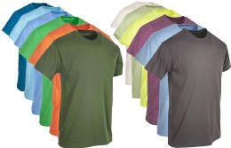 12 Bulk Plus Size Mens Cotton T-Shirt Bulk Big Tall Short Sleeve Lightweight Tees (6X-Large, 12 Pack Mixed Assorted Bright Colors)